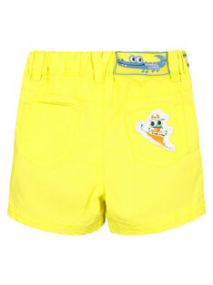 Bermudas de color amarillo para bebé niño FUCABER1 / 19SG10D1BER117