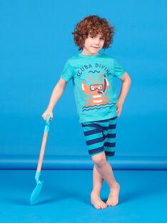 Conjunto de playa de color turquesa para niño LOPLAENS3 / 21S902T5ENSC215