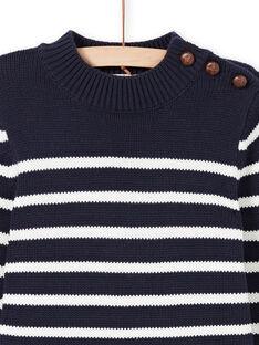 Jersey de color azul marino y blanco de rayas para niño MOJOPUL1 / 21W90213PUL001