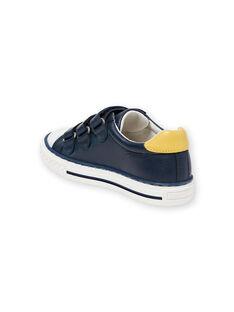 Zapatillas de color azul marino y amarillo para niño JGBASLIAGM / 20SK36Y1D3F070