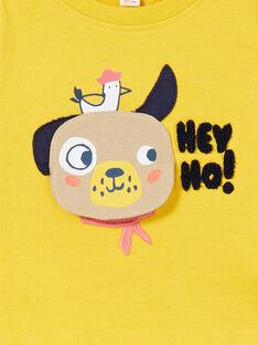 Camiseta de algodón de color amarillo para niño LUNOTEE2 / 21SG10L2TML106