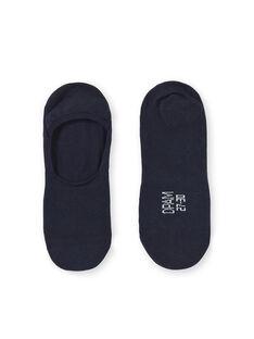 Calcetines cortos invisibles de color azul marino para niño KYOESINV1 / 20WI0288SOQ070