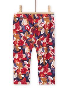 Pantalón con estampado floral para bebé niña MIFUNPAN / 21WG09M1PAN070