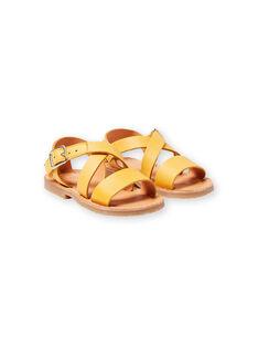 Sandalias amarillas para bebé niña LBFSANDSUN / 21KK3758D0E010
