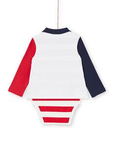 Body de color crudo para bebé niño LUHABOD1 / 21SG10X2BOD001
