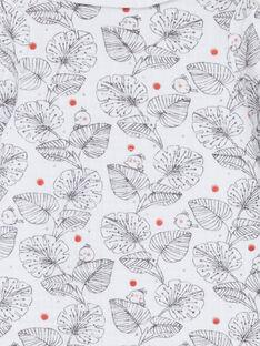 Pelele blanco y negro con estampado de hojas LOU1GRE1 / 21SF03H1GRE000