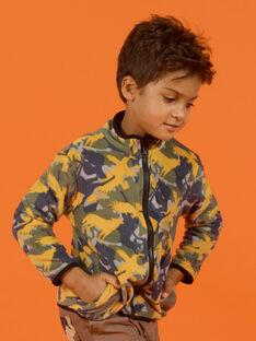 Cárdigan con cremallera de forro polar reversible para niño MOSAUGIL / 21W902P1GILJ922