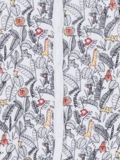 Pelele blanco y negro con estampado de la jungla para recién nacido LOU1GRE2 / 21SF04H1GRE000