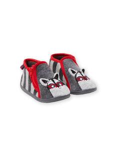 Zapatillas de color gris para bebé niño GBGBOTRAT / 19WK38Z1D0A940