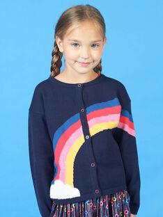 Cárdigan azul marino y rojo para niña LAHACAR / 21S901X1CAR070