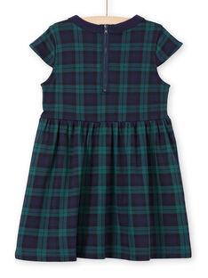 Vestido verde y azul marino para niña MAJOROB3 / 21W90121ROBC243