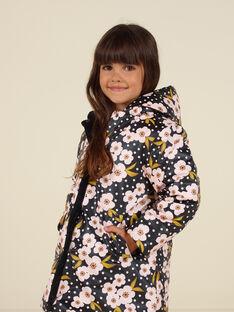 Parka reversible de pana con estampado floral para niña MAHIPARKA / 21W90165PARJ905