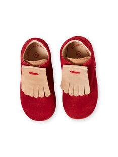 Botines de color rojo para bebé niña GBFBOTIPATR / 19WK37I6D0F050