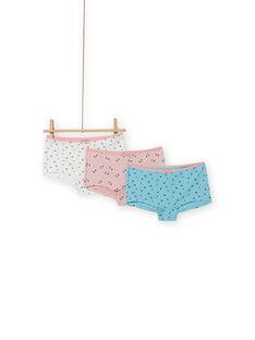 Pack de 3 shortis a juego con estampado floral para niña MEFAHOTDA / 21WH11C1SHY303