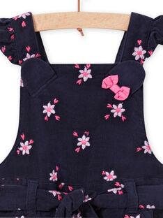 Peto-short con estampado floral de pana para bebé niña MIPLASAC / 21WG09O1SALC202