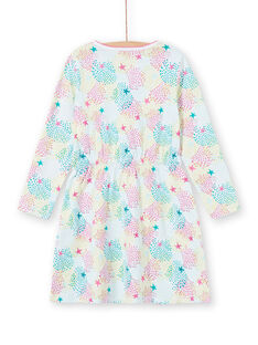 Camisón de punto fino con estampado multicolor para niña LEFACHUSTA / 21SH1153CHN000