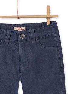 Pantalón liso de color azul grisáceo para niño MOJOPAVEL6 / 21W902N1PANJ902