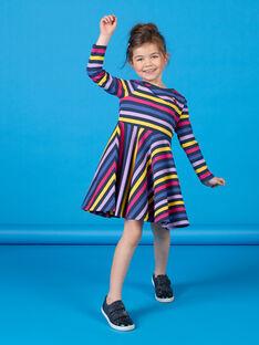Vestido de rayas de color negro y azul LANAUROB2 / 21S901P1ROBC205