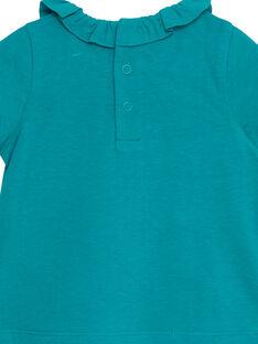 Camisita de color turquesa para niña recién nacida JIJOBRA8 / 20SG09T3BRA621