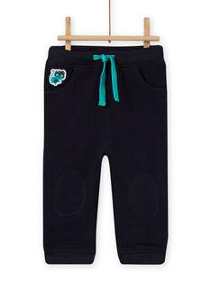 Pantalón de chándal de color azul noche para bebé niño MUTUPAN2 / 21WG10K2PANC234