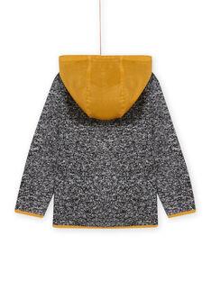 Chaqueta con cremallera y capucha de tejido técnico de color negro para niño MOJOTEKGIL2 / 21W902N1GIL090