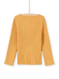 Jersey liso amarillo de manga larga para niña MAJOPULL3 / 21W901N2PULB107