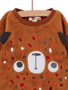 Sudadera marrón con estampado de oso para bebé niño MUFUNSWE / 21WG10M1SWEI820