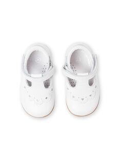 Salomés blancos para bebé niña LBFSALCOEUR / 21KK3733D13000