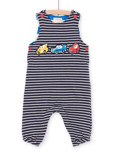 Peto de rayas de color azul noche, para bebé niño LUHASAL1 / 21SG10X2SAL713