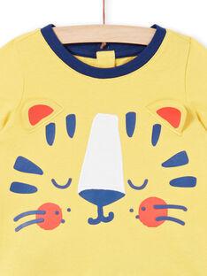 Pijama amarillo para bebé niño LEGAPYJTIG / 21SH14C1PYJB116