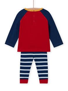 Conjunto de camiseta con estampado de oveja y leggings de rayas para bebé niño MUMIXENS / 21WG10J1ENS505