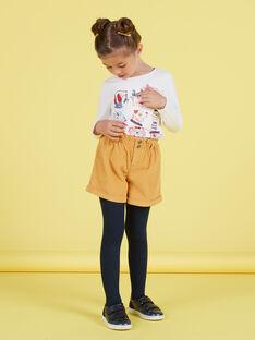 Short de tiro alto de color mostaza para niña MAMIXSHORT / 21W901J1SHOB106