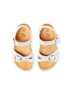 Sandalias plateadas para niña LFNUARGENT / 21KK355QD0E956