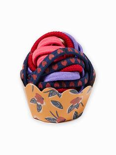 Pack de 4 gomas para el pelo a juego con lazos para niña MYAJOELA2 / 21WI01S7ELAB106