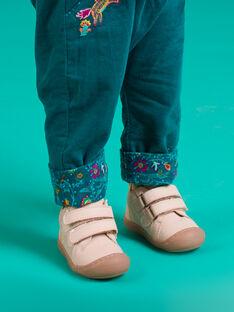 Botines de color rosa claro de piel bebé niña MIBOTIFLEXFI / 21XK3751D0F030
