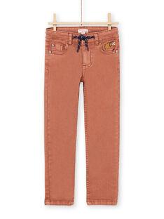 Pantalón marrón claro para niño MOPAPAN / 21W902H1PANI802