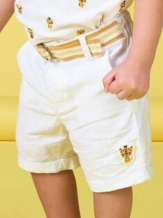 Bermudas de color blanco para bebé niño LUBALBER / 21SG10O1BER000