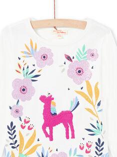 Camiseta de color blanco y rosa para niña MAPLATEE2 / 21W901O1TML001
