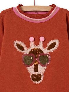 Sudadera con estampado de jirafa con lentejuelas de fantasía para niña MACOMSWEA / 21W901L1SWE420