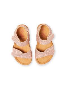 Sandalias de color rosa dorado para bebé niña LBFNUGOLD / 21KK3757D0EK009