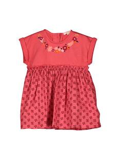 Vestido con estampado de fantasía para bebé niña FIBAROB1 / 19SG0961ROB308