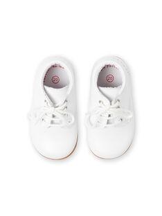 Botines blancos para bebé niño LBGBOTIESSB / 21KK3831D0F000