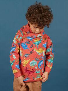 Sudadera con capucha de color naranja para niño MOPASWE / 21W902H1SWEE415