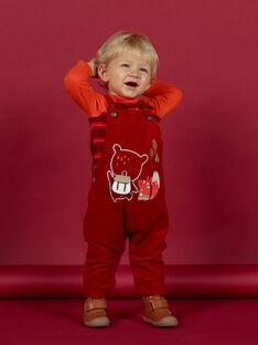 Peto rojo de pana con estampado de fantasía para bebé niño MUFUNSAL1 / 21WG10M2SAL510
