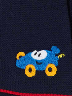 Cárdigan de punto fino de color azul noche, para bebé niño LUHAGIL / 21SG10X1GIL713