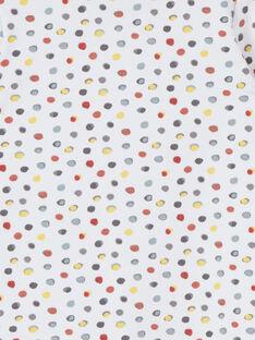 Pelele blanco y rojo de lunares LOU1GRE7 / 21SF05H5GRE000