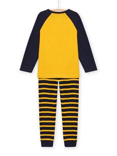Pijama con estampado de tigre con detalles fosforescentes para niño MEGOPYJLION / 21WH1281PYJB107