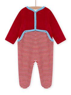 Pelele rojo de terciopelo con estampado de oveja para bebé niño MEGAGREMOU / 21WH1493GREF526