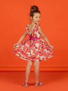 Vestido sin mangas con estampado floral para niña LAVIROB1 / 21S901U1ROB000