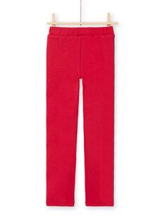 Pantalón rojo de rayas para niña MAJOMIL5 / 21W90114PAN511